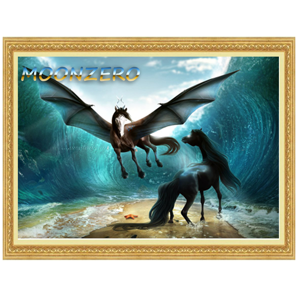 Horse arts and crafts - Diamond Embroidery Horse 5d Diy Diamond Painting Crystal Cross Stitch Kit Square Drill Mosaic Set Pattern