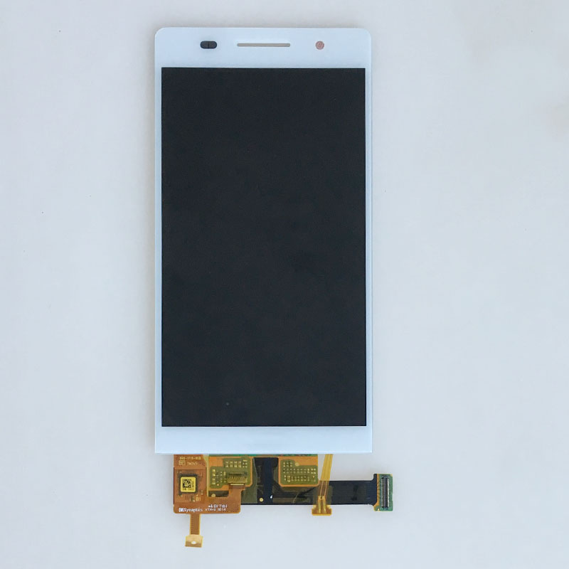 White Touch Screen Digitizer LCD Display Screen Glass Assembly For Huawei Ascend P6 -U06 Replacement replacement original touch screen lcd display assembly framefor huawei ascend p7 freeshipping