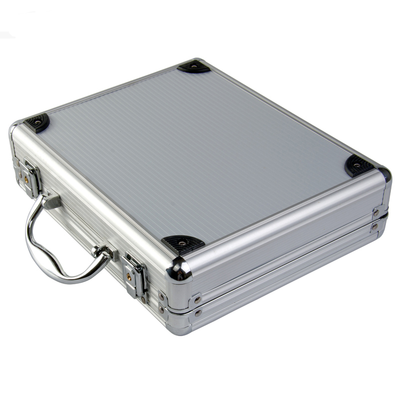 New high quality Aluminum alloy Tactical Hard Pistol Case Gun Case Padded Foam Lining free shipping