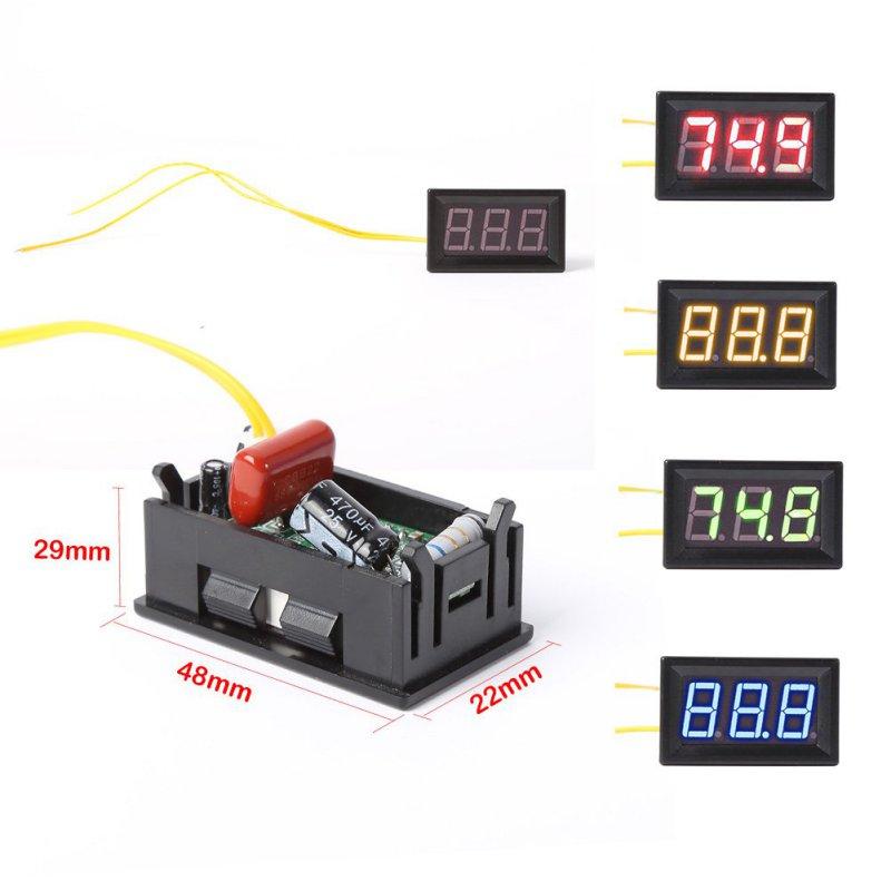 AC 70-500V Digital Voltmeter Home Use Voltage LED Display W/ 2 Wires Measurement Tool