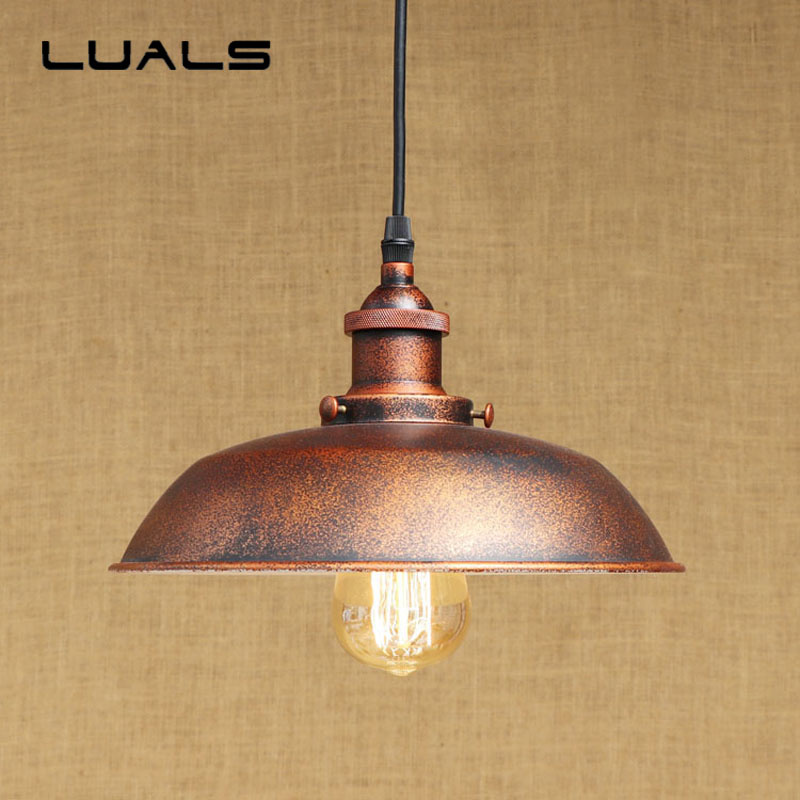 2 pcs Rural Style Retro Light Loft Hanging Lamp Cafe Bar Pendant Lights Creative Edison Lamps Industrial Style Pendant Lighting 2 pcs loft retro light rusty color hanging lamp cafe bar pendant lights creative edison lamps industrial style pendant lighting