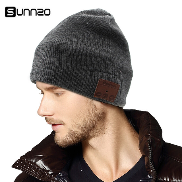7659553f481da Bluetooth Beanie Hat for Men Women Winter Washable Double Knit Music Cap  Wireless Stereo Headphone Headset Earphone Handsfree