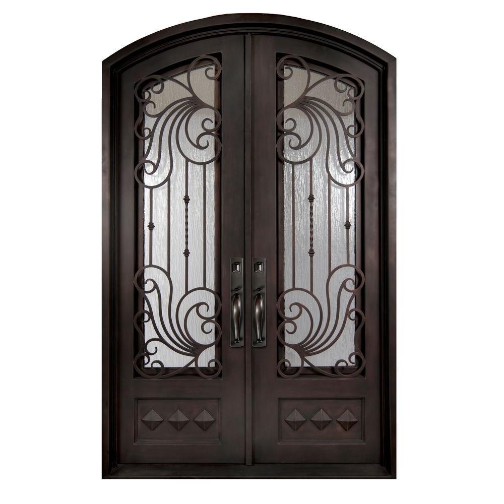 Wholesale Wrought Iron Doors Iron Double Doors Iron Doors Iron Front Doors For Sale  Hc17