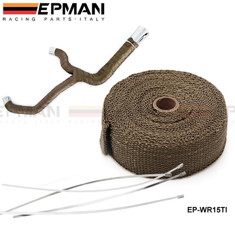 00E3 5M Exhaust Pipe Heat Wrap Tape Intercooler Reflective Insulation Titanium