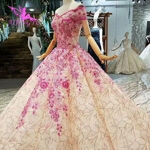 Image 3 - AIJINGYU 비공식 신부 가운 예쁜 소매 Couture 2021 2020 공 유행 Gowning 가운 레이스 웨딩 드레스