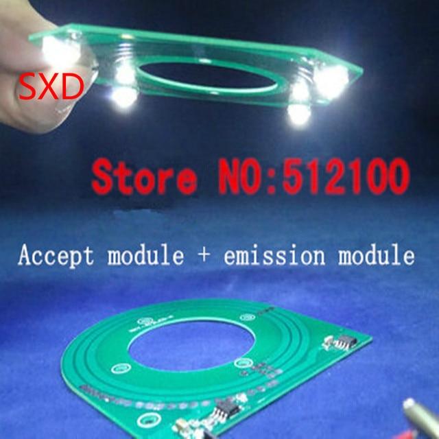 10 セット/ロット PCB ワイヤレス電源モジュールワイヤレス伝送ランプモジュール XKT 412 受け入れるモジュール + 発光モジュール