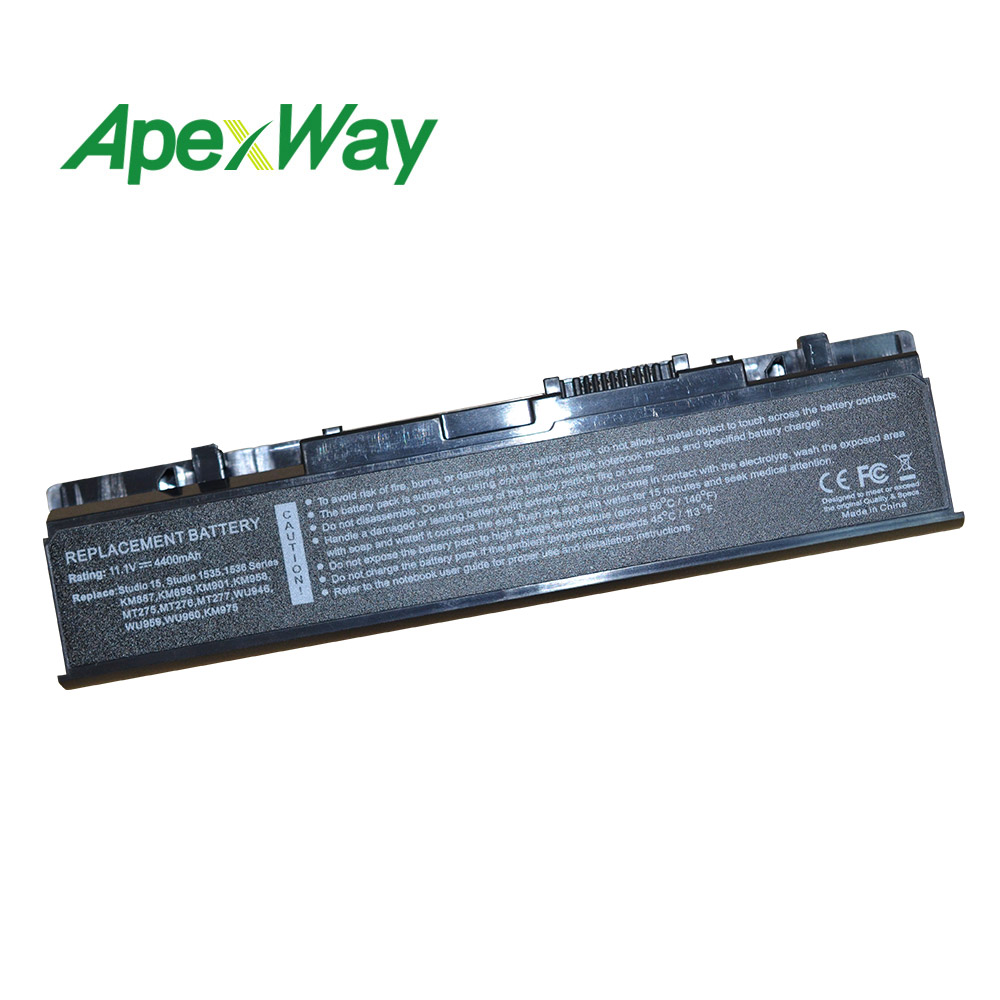 Laptop Battery 312-0701 312-0702 A2990667 KM958 WU946 KM965 MT264 For <font><b>Dell</b></font> <font><b>Studio</b></font> <font><b>1535</b></font> 1536 1558 PP33L PP39L 1537 1555 1557 image