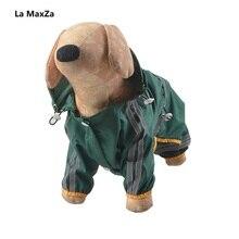 Dog Raincoat Puppy Rain Coat with Hood Reflective Waterproof Clothes Soft Breathable Pet Cat Small Rainwear XS - 2XL