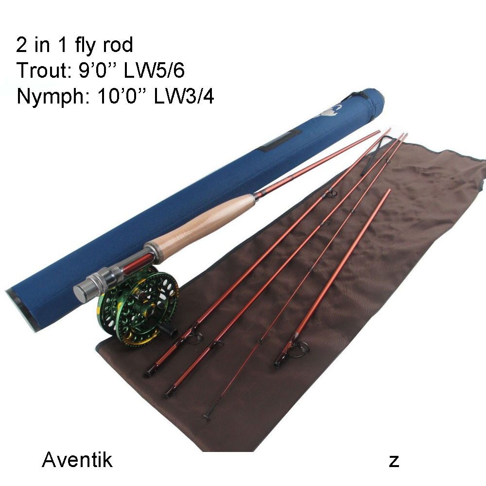 Aventik Japanese Carbon Fiber Fly fishing rod IM12 9FT 5/6wt 4sec and 10FT 3/4wt 5sec 2 in 1 Fly Rod NEW crony st8003 3 gc pro stream series rod weight 79g 8 0 3 3pieces fly rod 6 15g fishing rod