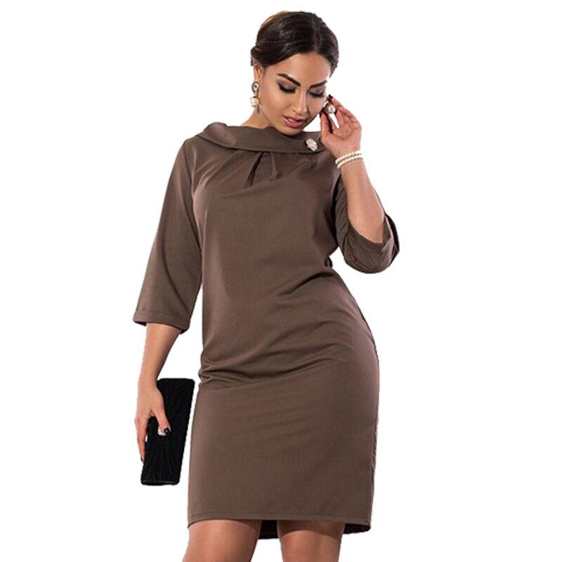 Simple Women Dress 5XL 6XL Plus Size Women Clothing Bodycon Office ...
