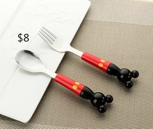 spoon fork Mickey Mouse cutlery set stainless steel HYLD6691