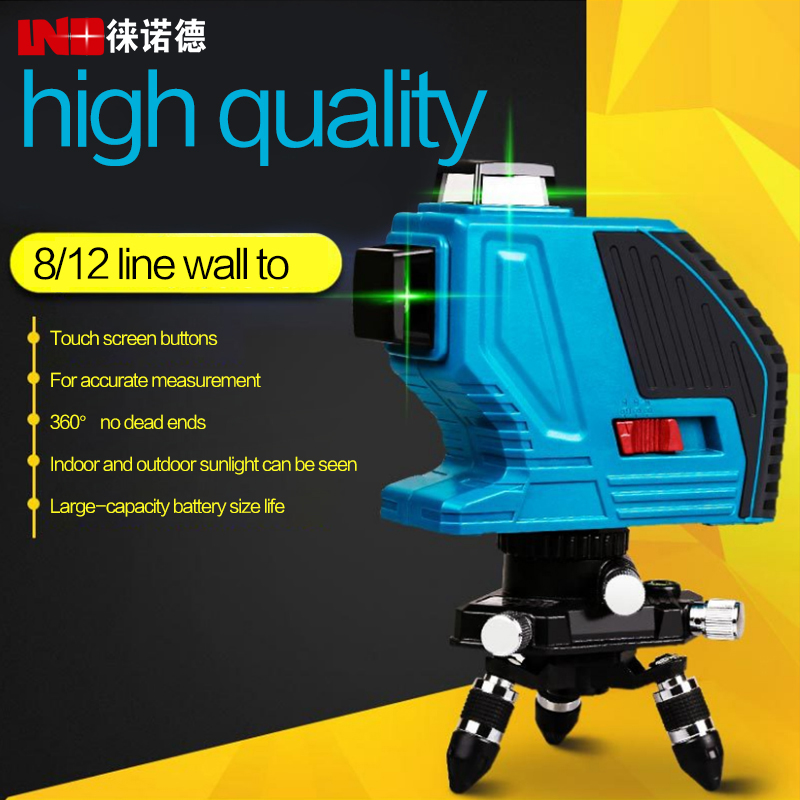 LETER 360 green Laser Level Self Leveling 360 Horizontal And Vertical Cross Super Powerful Laser Beam