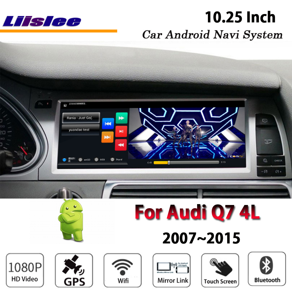Liislee voiture Android 2G RAM 32ROM pour Audi Q7 4L 2007 ~ 2015 style Original Radio Carplay GPS Navi carte système de Navigation multimédia