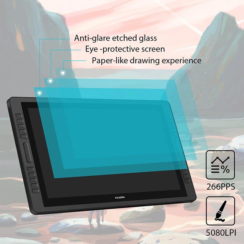 """Image 3 - Huion Kamvas Pro 22 2018 графический планшет цифровой монитор для рисования 21,5 """"8192 уровней без батареи ручка дисплей монитор-in Цифровой планшеты from Компьютер и офис"""