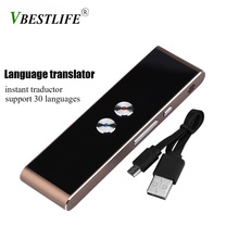VBESTLIFE Portable Multi-Language translator voice Smart Two-Way instant traductor simultaneo for Learning Travel Meeting