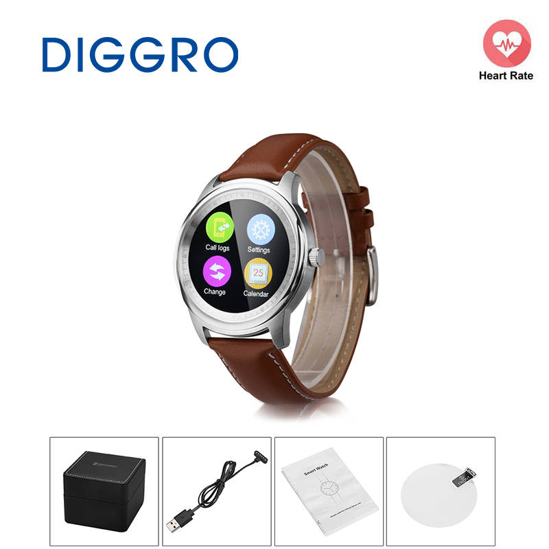 Diggro LEM1 Smartphone Anti-lost Bluetooth Mate HD Screen Music Reminder for Android IOS Sports Partner Smart Watch Siri Call uf302 bluetooth telephone mtk6260 sync smartphone music address book