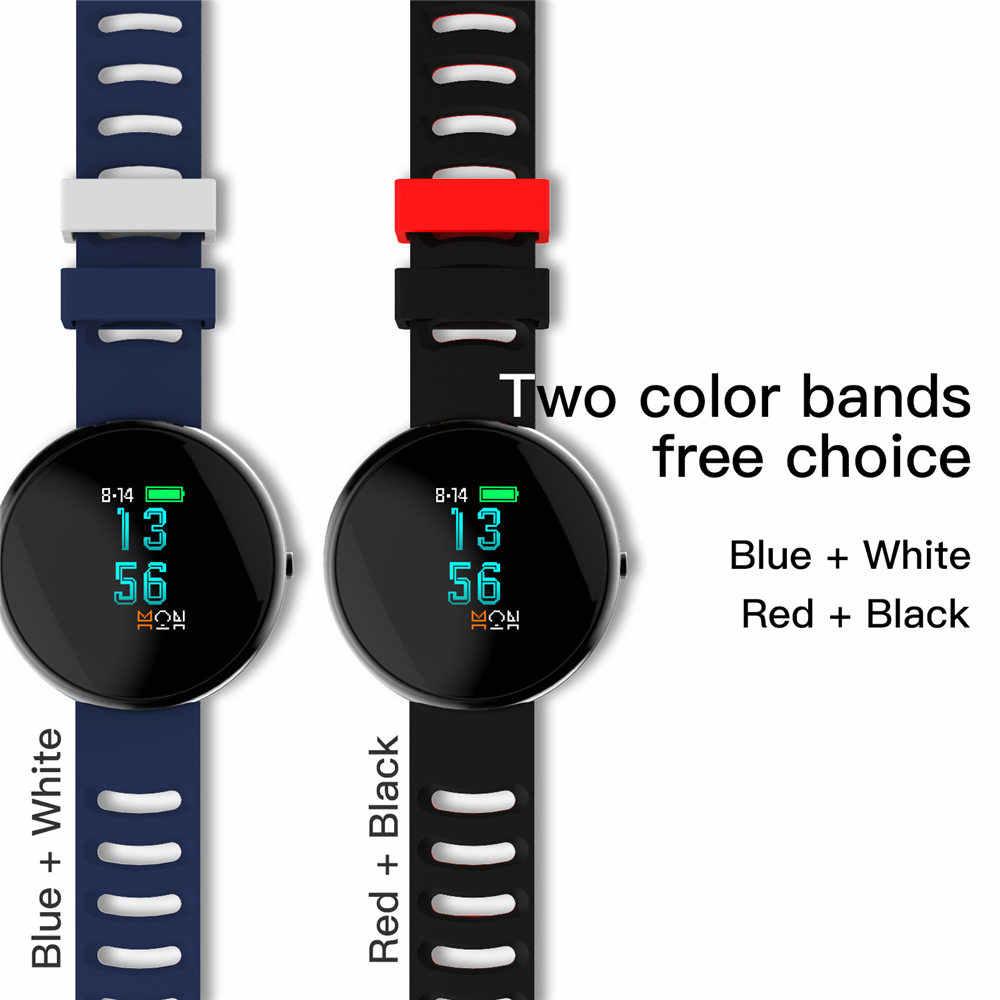 Voberry 2,5 D Curved Glas Farbe Bildschirm Smart Armbänder Blutdruck Herz Rate Smart Armband Anruf Erinnerung für Android iOS