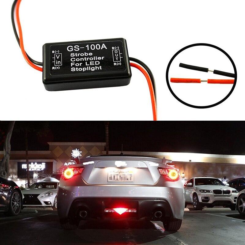 GS-100A Flash Strobe Controller Flasher Module for Car LED Brake Stop Light Lamp 12--24V Auto Brake Light Flasher Module #7420