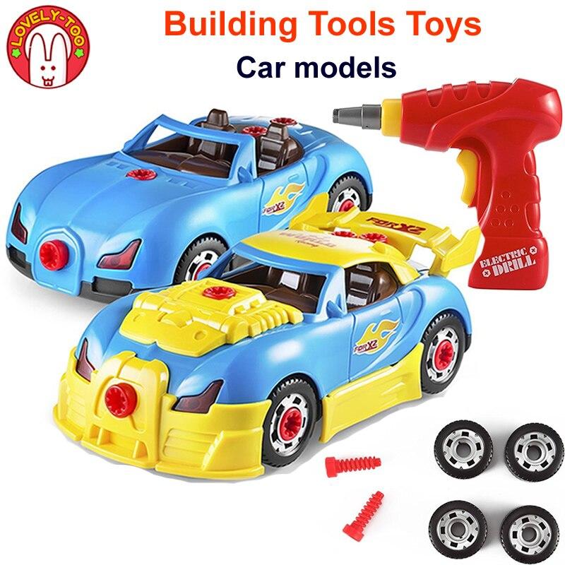 Brinquedos infantis Meninos Máquina de Construção de Brinquedo Modelo de Carro Veículo de Modelagem Kit De Corrida Rossi Diecast Carros Com Som Luz Parafuso Para crianças