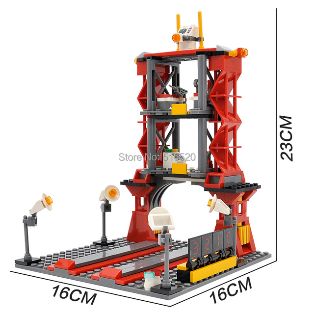 City Spaceport Space Shuttle Launch Center Building Block 679pcs 4