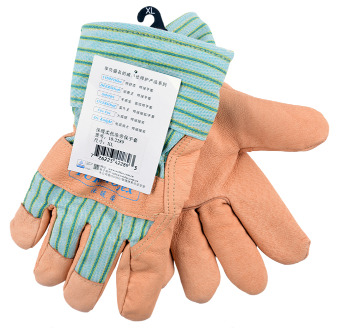 pig skin leather warm winter Thermal work gloves cotton sweat absorbing oil pollution wear-resistant safety gloves cute bear paw plush gloves winter warm thermal children knitted gloves full finger mittens cartoon gloves