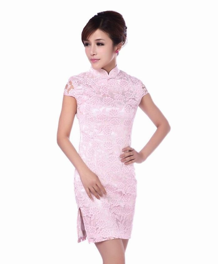 Pink Chinese Dresses