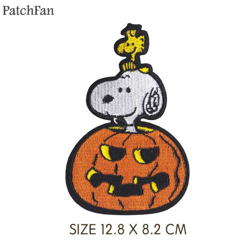 Patchfan dog Embroidered Iron On Patches Badges Sewing Applique pour Jacket Jeans Shoes Backpack Badges stickers A1733