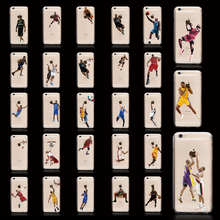 Fashion Hot NBA Super Player Transparent TPU Cell Phone Cases For Apple iPhone 6 4 5s 6s For iPhone7 Scrub case Curry Back Cover