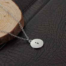 New fashion temperament simple punctuation pendant creative female letter semicolon symbol alloy necklace jewelr