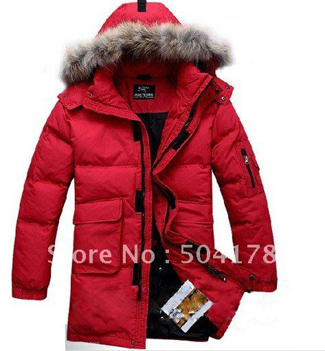 Free Shopping Winter Down Coat Fashion Coats Color Red Men's ...