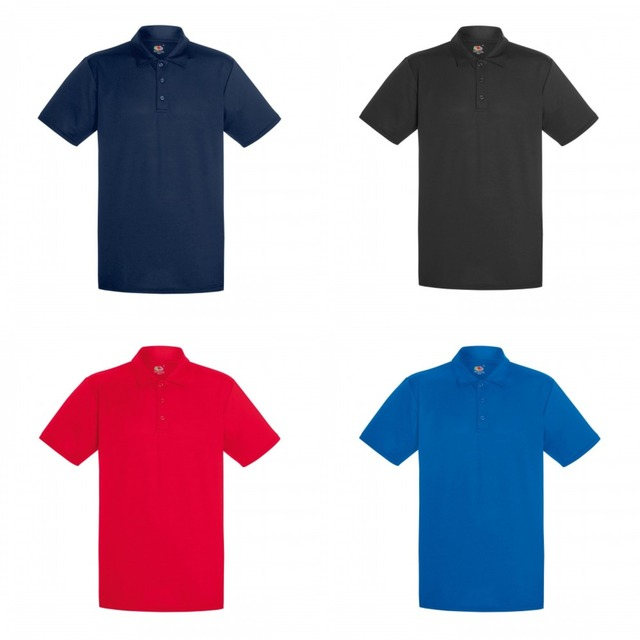fd52d183 Mens Short Sleeve Moisture Wicking Performance Polo Shirt-in Polo ...