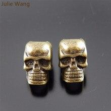 Julie Wang, 10 шт., форма черепа, металлический сплав, для женщин, ручная работа, ювелирные изделия, модные бусины, сделай сам, браслет, аксессуары, фурнитура для рукоделия