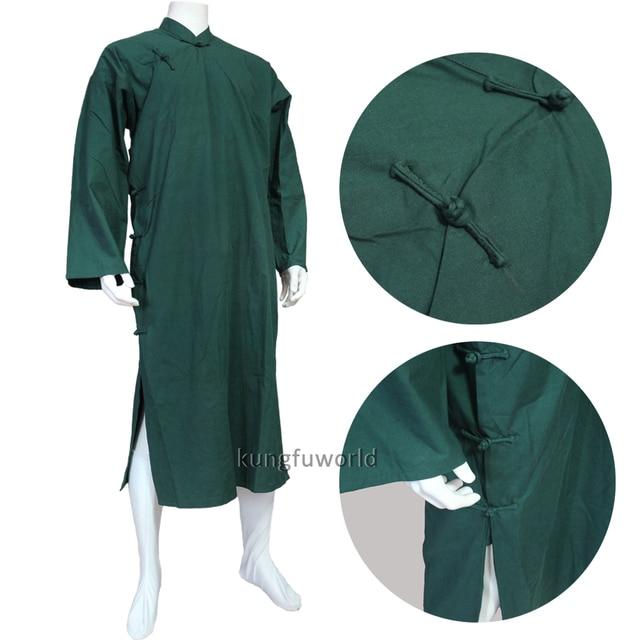 b283242e8 9 Colors Cotton Wing Chun IP Man Robe Wudang Taoist Shaolin Buddhist Monk Kung  fu Suit Tai Chi Uniform Martial arts Suit