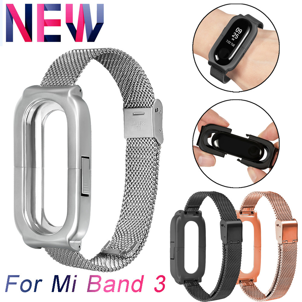 Watchband Stainless Steel Smart Watch Band For Xiaomi Mi Band 3 Luxury Wrist Strap Metal Watch Band For Xiaomi Mi Band 3 динамик широкополосный fostex fe168ez 1 шт