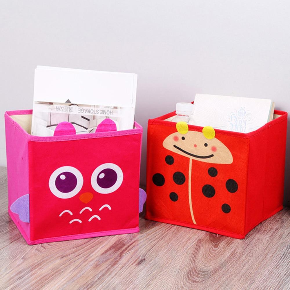 Office Desk Storage Box Fashion Nordic Style Desk Storage Box Foldable Non-Woven Fabric Desk Top Cosmetics Storage Box