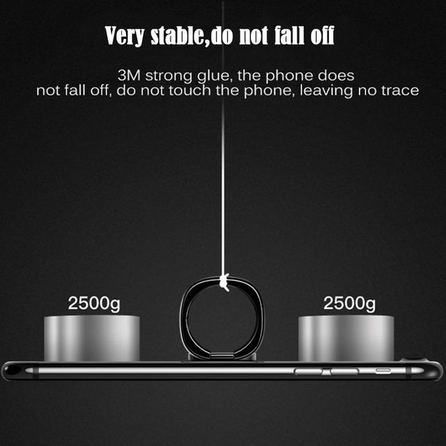 Baseus Universal Mobile Phone Holder 360 Degree Rotation Finger Ring Holder Magnetic Car Bracket Stand Mobile Phone Accessories