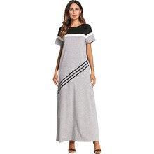 #187064# Hot Euramerica Streak Splicing Dress Arabia Women Robes Middle East Womens Gowns Mujer Vestidos