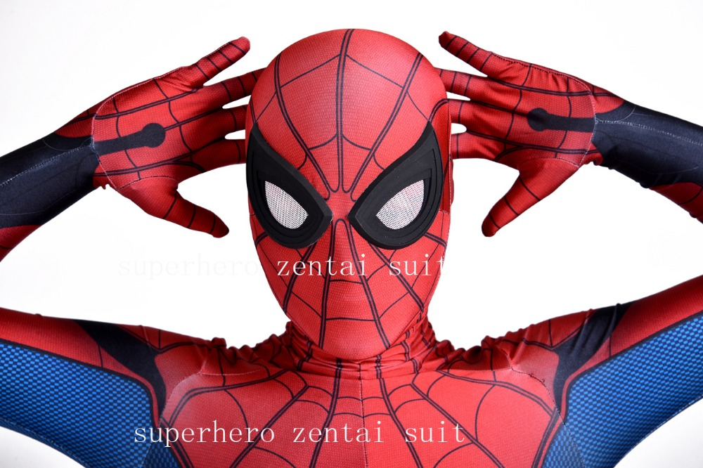 Homecoming Spider-Man Costume Cosplay 3D Spiderman Homecoming Spandex Suit Newest Spidey Bodysuit For Adult /Kids/Custom Made