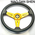 Free shipping 2015 new special 14-inch MOMO steering wheel / PU steering wheel / racing wheel