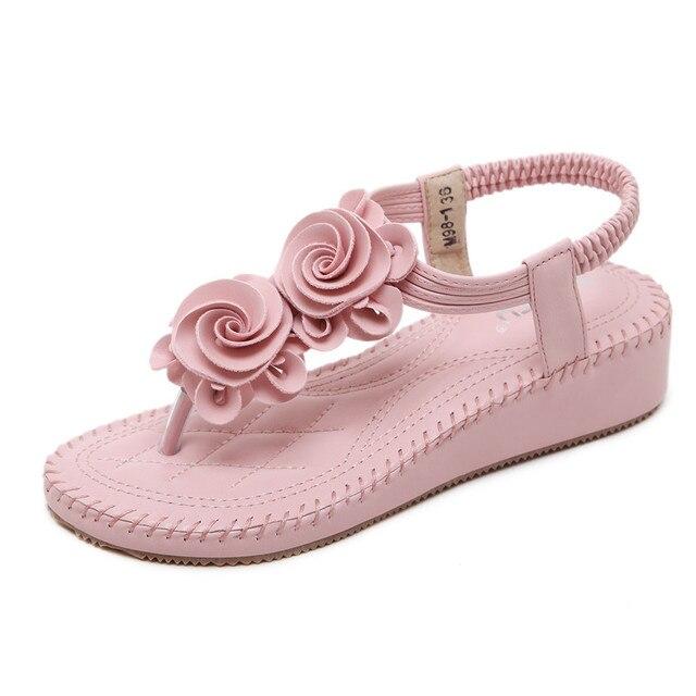 2017 new summer pink sandals shoes flower woman flip flops superstar 2017 new summer pink sandals shoes flower woman flip flops superstar shoes bohemian flat open toe mightylinksfo Gallery