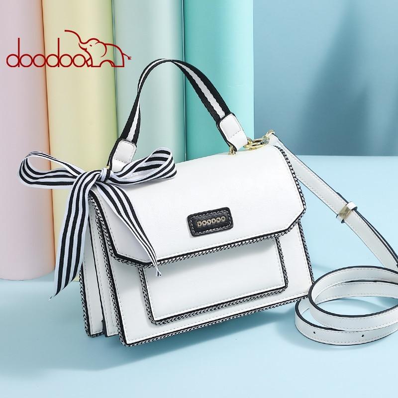 Noir Doodoo Femmes Bandoulière Designer Nouveau Luxe Et Bolsa Main 2018 Feminina Sac blanc Sacs À De Messager Pour FBFqafw