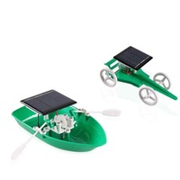 DIY Solar Energy Green Power Toys Solar Boat And Solar Car Toy Science Educationals Kids