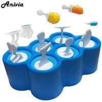 סט עובש פופ קרח סיליקון מיני דגי עיצוב חלל מטבח יצרנית קרח יצרנית ארטיק קרח DIY לילדים BPA-משלוח