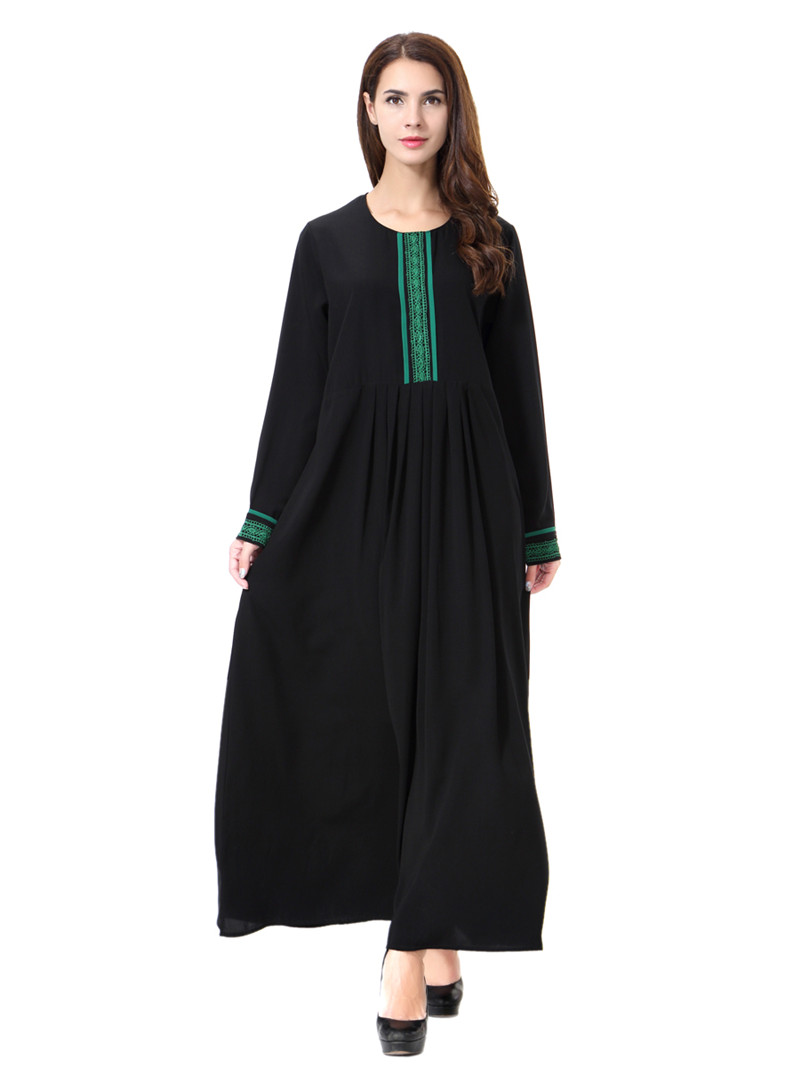 2020 Muslim Dresses Woman Robe Orientale Musulman Abaya Embroidery Islamic Clothing For Women Muslim Dresses From Carawayo 27 97 Dhgate Com