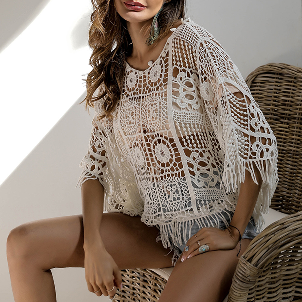 Cover Ups 2019 New Women Summer Solid Color Bikini Cover Up Suit Beach Can Buy Top or Pants Separately 1