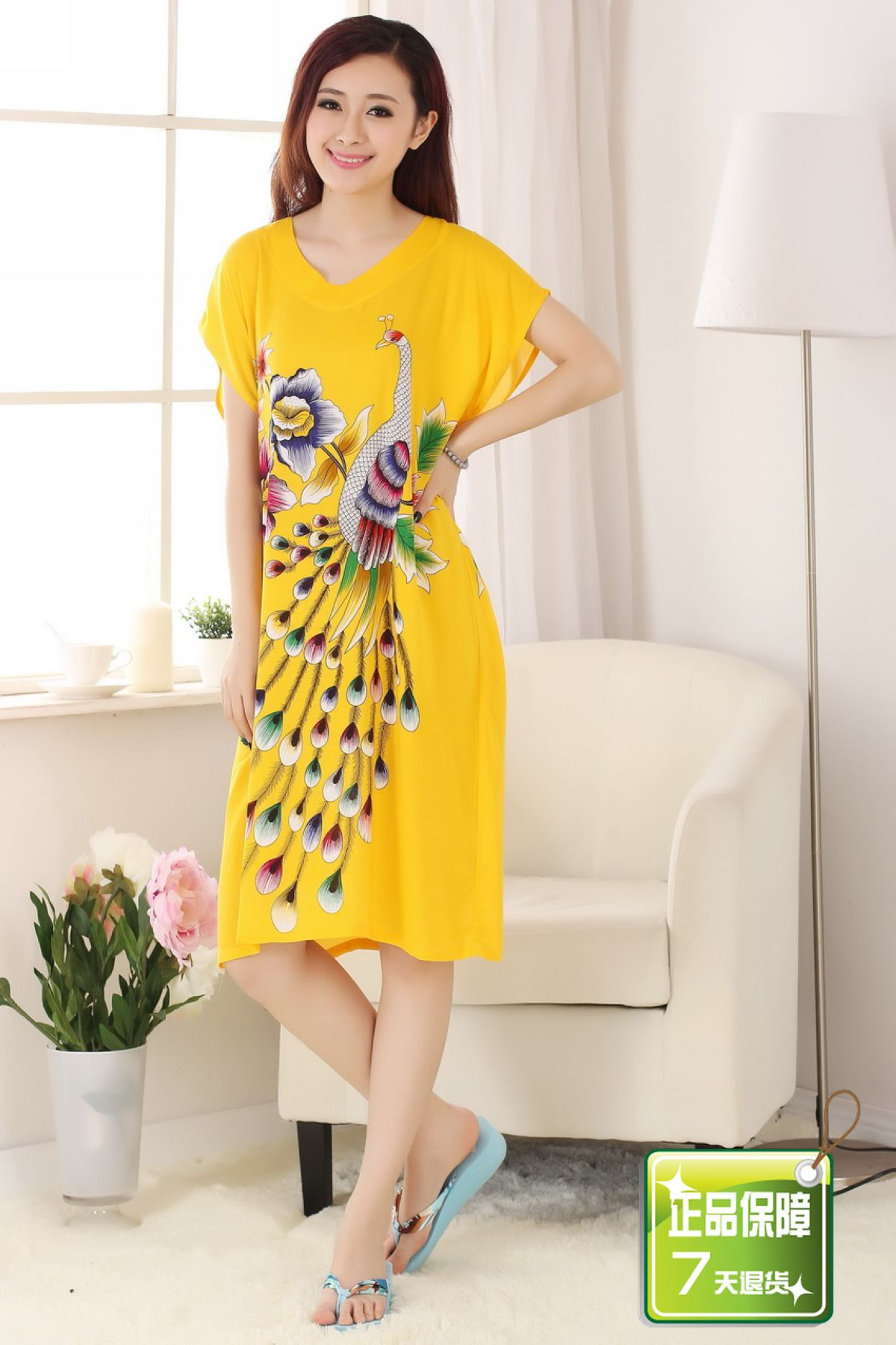 9cd0830a3c Silk spring and autumn female lounge tang suit Loose sleepwear bathrobes  Lady long Night wear night gown Dress pajamas for women-in Robes from  Underwear ...