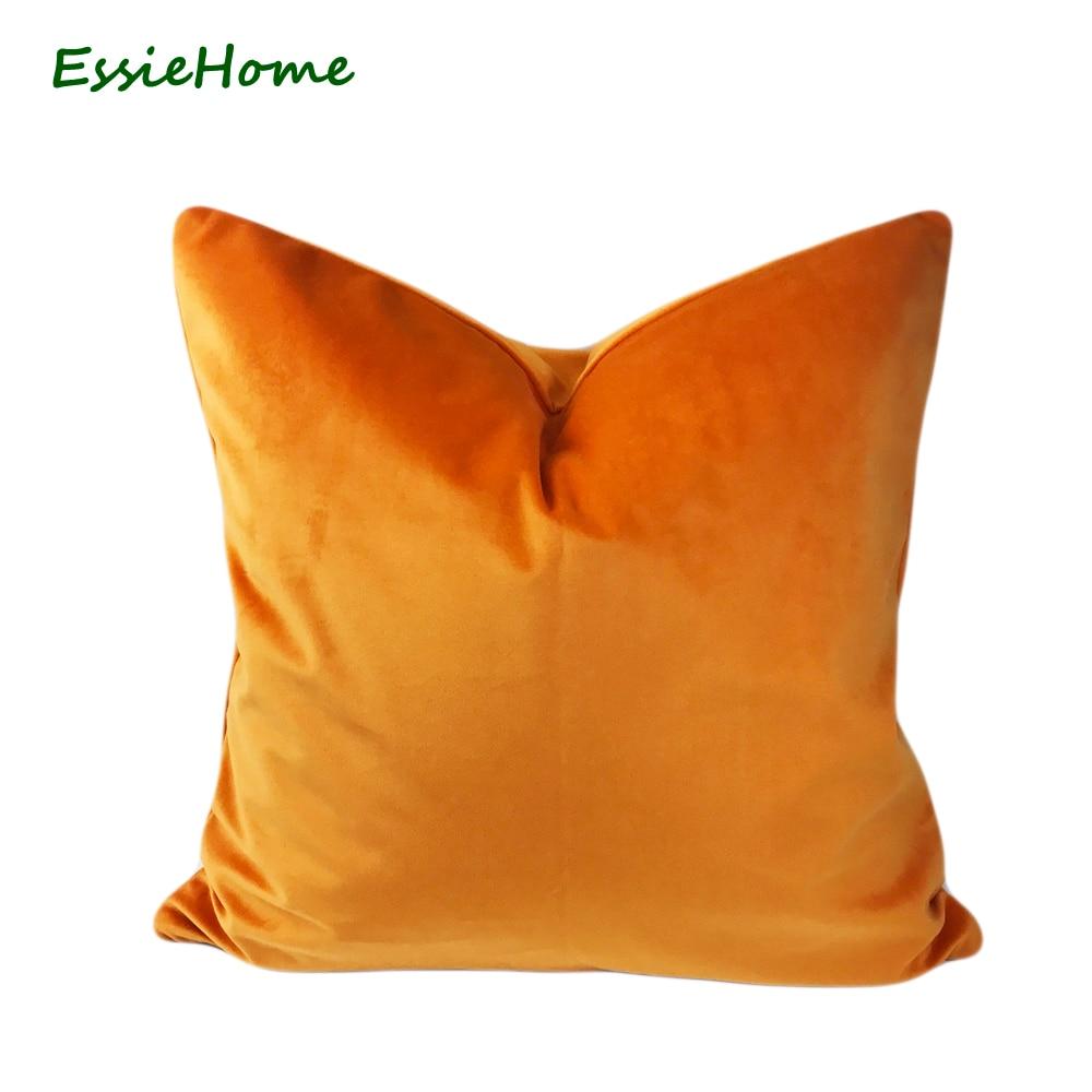 Essie Home Luxury Matte Cotton Velvet Beige Ivory Khaki Cushion Cover Pillow Case Lumbar Pillow Case Throw Power Source