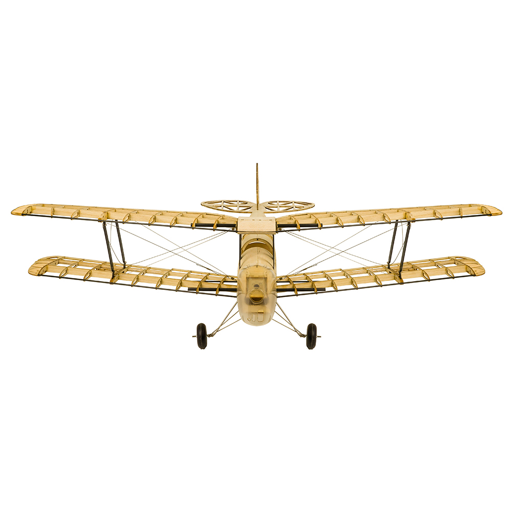 Wood RC Airplane Dancing Wings Hobby S1901 Balsa Tiger Moth Remote Control Biplane Unassembled KIT Version DIY Flying Model 5