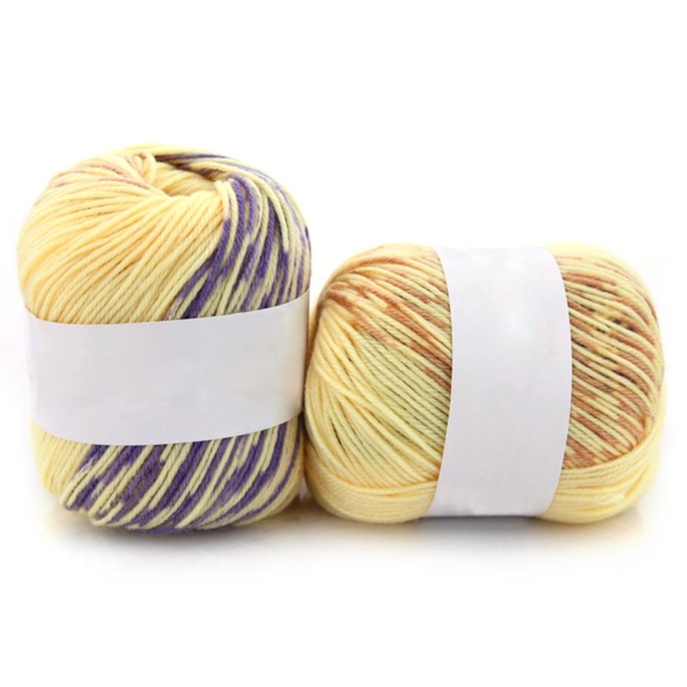 Hot New Soie Cachemire Mélangé doux épais fil pour tricot à la main bébé  laine crochet fil DIY Tricot Chapeau Écharpe Vêtements e85f55317b6