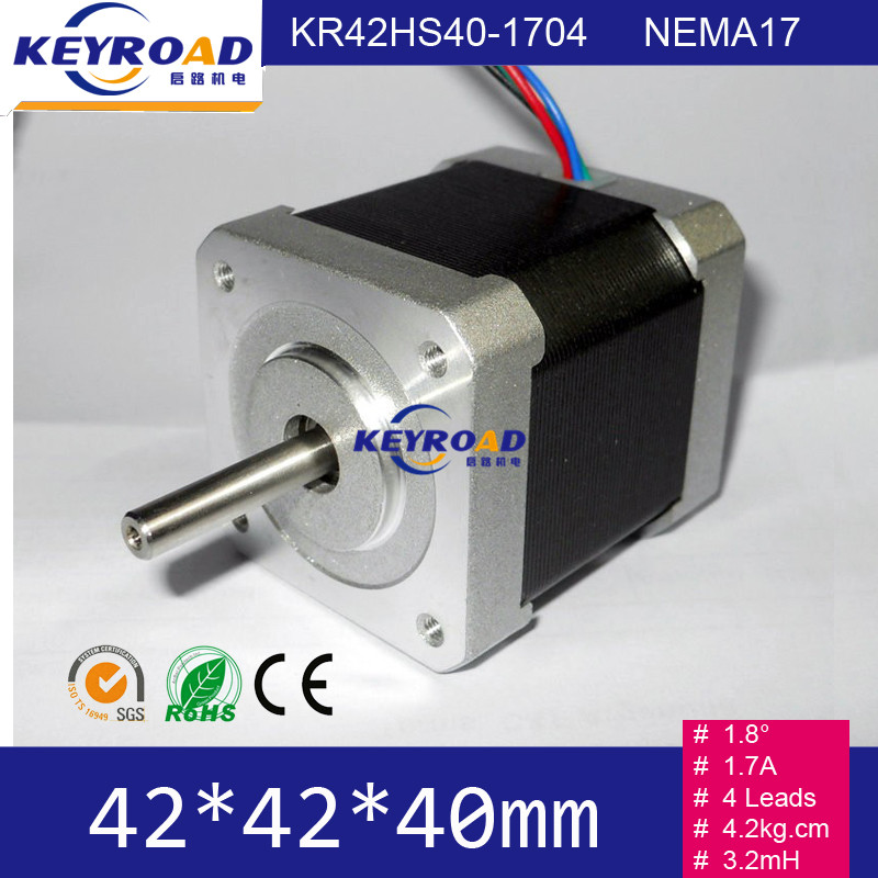 42mm 2phase Hybrid high torque mini nema17 84oz. 1.7a arduino Stepper Motor 42BYGH For CNC XYZ Robot and 3D Printer top selling 5pcs nema17 stepper motors 1 8 deg high torque 59ncm 84oz in 2a 42x42x48mm stepping motor for 3d printer robot cnc